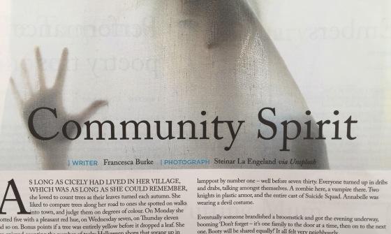 'Community Spirit' by Francesca Burke published Trawler Magazine November 2016